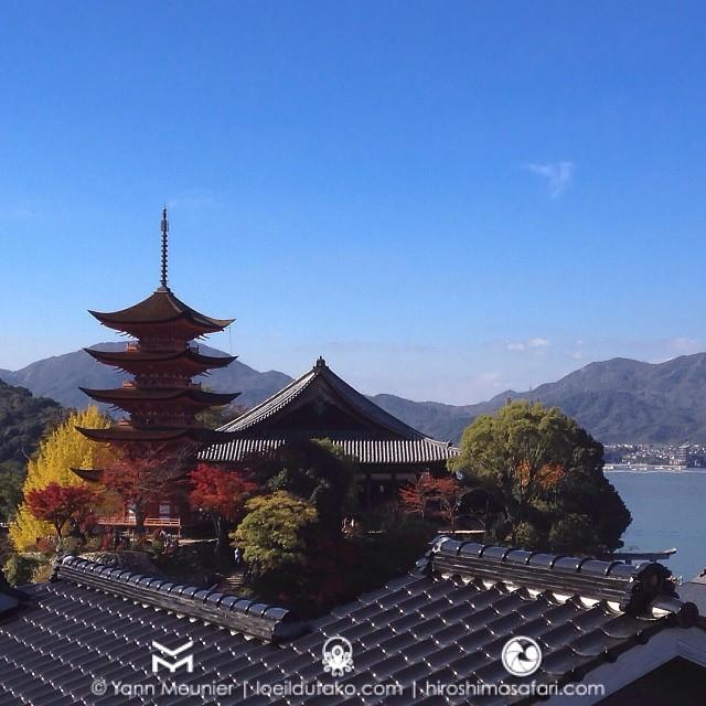 Belle journée ensoleillée pour profiter de Miyajima en automne.