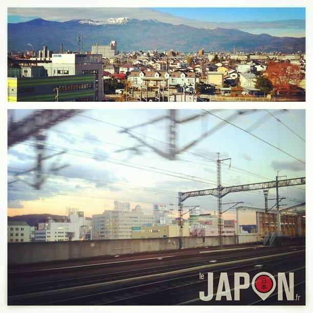 Même si la ville de Fukushima est à 80Km de la centrale nucléaire, ça fait toujours quelque chose d'y passer en Shinkansen.