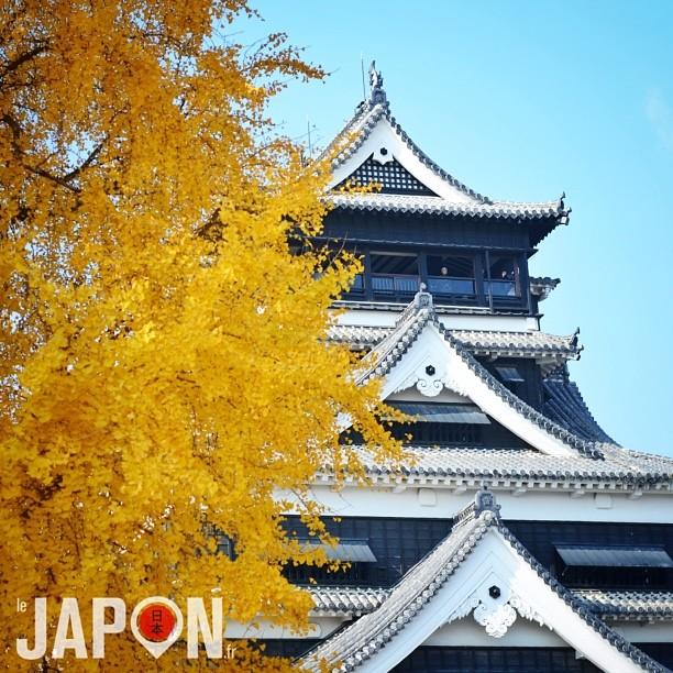 Le château (en béton) de Kumamoto fait parti des 3 plus grands du Japon !
