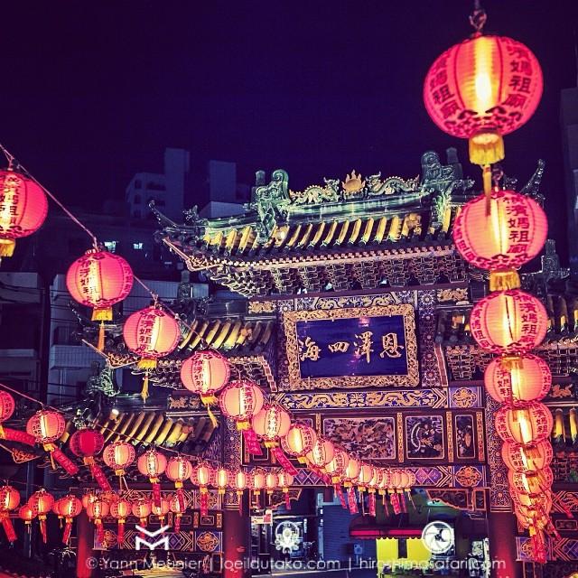 Difficile de ne pas remarquer les temples colorés du Chinatown de Yokohama.