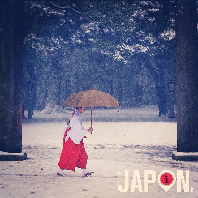 Tokyo sous la neige : Meiji Jingu