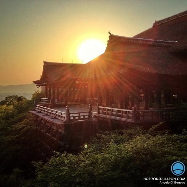 Fin de journée sur le Kiyomizu-Dera