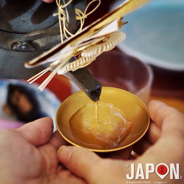 Un p'tit saké au petit déjeuner pour bien commencer l'année ! #osechi #2016 #Japon #Japan