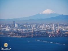Le mont Fuji qui nous souhaite la bienvenue en arrivant ! #japon #nodrone