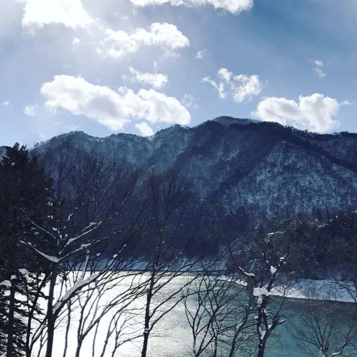 Jolie vue sur le lac Akayako depuis le ryokan Le Vent Vert 😗