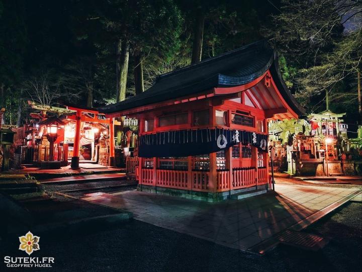Fushimi Inari rime avec la nuit #japon #kyoto