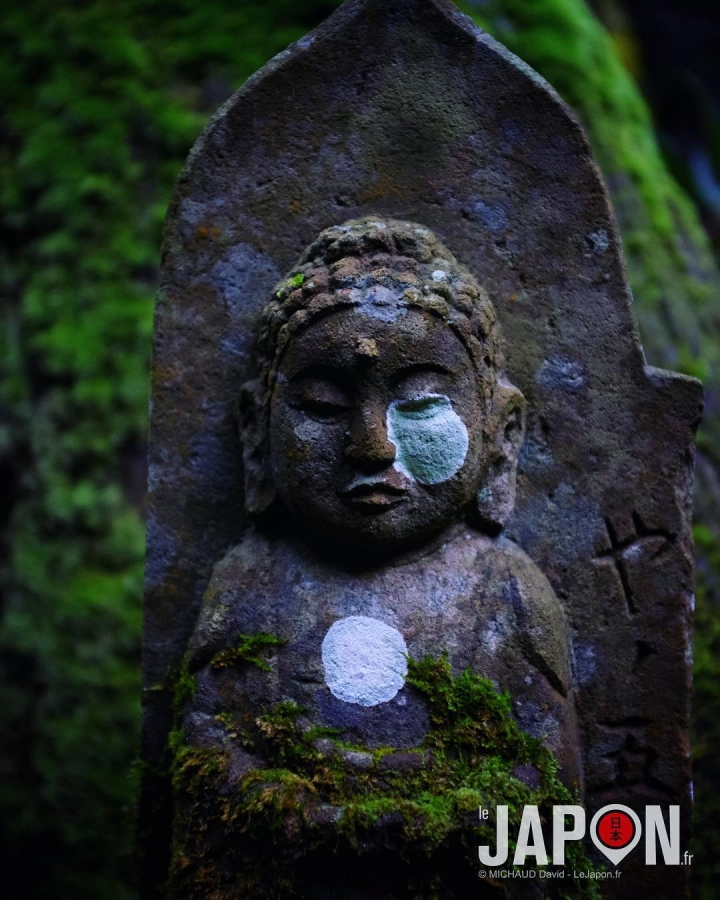 Ambiance mystique dans la vallée de Tachikueyama à Izumo avec des milliers de Jizo ! 😱👻⛩🌲🌳 #IzumoAdventures #Izumo #Japon