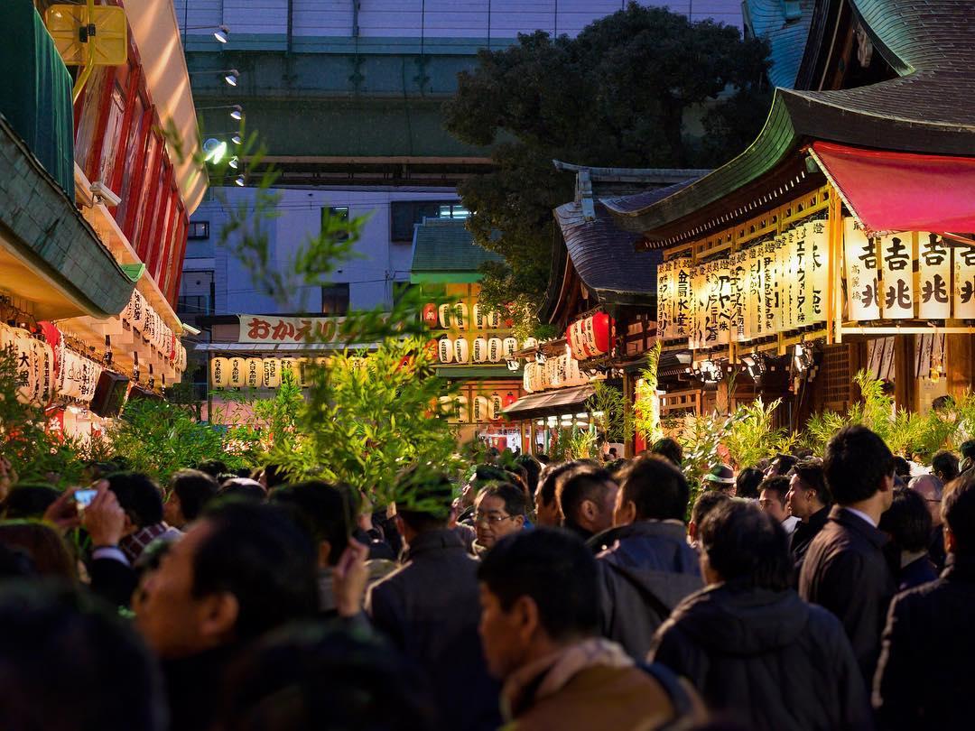 Festival Toka Ebisu du sanctuaire Imamiya #osakasafari #japonsafari