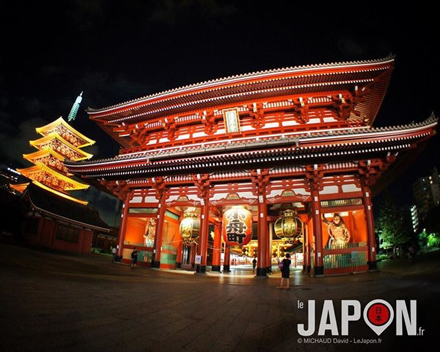 Sensoji à Asakusa ! Un grand classique de Tokyo que je recommande de visiter la nuit pour apprécier la tranquillité 😉 #Asakusa #Sensoji #Tokyo #Japon