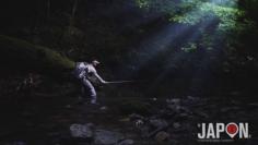 La pêche en pleine forêt dans la région d'Ehime 😍 #fishing #forest #japan #ehime