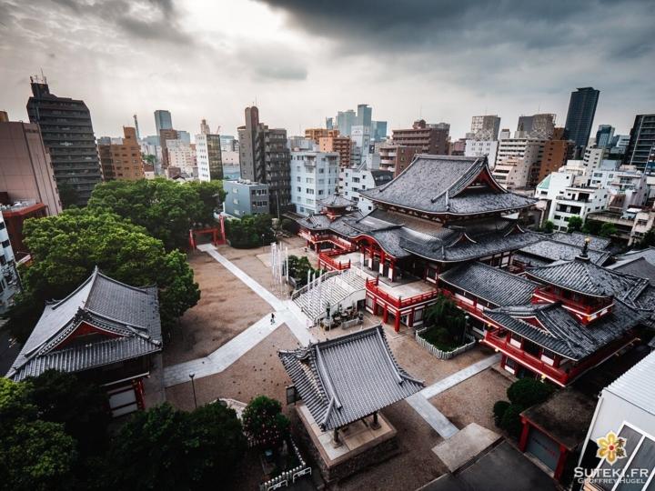 Je me rends compte que je n'ai encore jamais posté de photo de Nagoya, la ville la plus ennuyante du Japon selon ses habitants !  Mais il ne faut pas toujours écouter les locaux, il y a des choses très sympas ! Notamment son plus célèbre temple, le Osu Kannon !  Je vous le présente ici avec un point de vue inédit, trouvé en farfouillant, et dans une ambiance assez sombre, vu qu'il faisait moche ce jour là !  Et sinon j'attaque bientôt les cerisiers, un peu de patience ! 😁 . #hellofrom Nagoya 名古屋 🇯🇵 #japanesetemple #nodrone #birdsview #discoverjapan #everydayjapan #nagoya #visitjapan #panasonicgh5 #hbouthere #TheWeekOnInstagram #CreateExplore #discoverer #japanvibes #moodyphotography